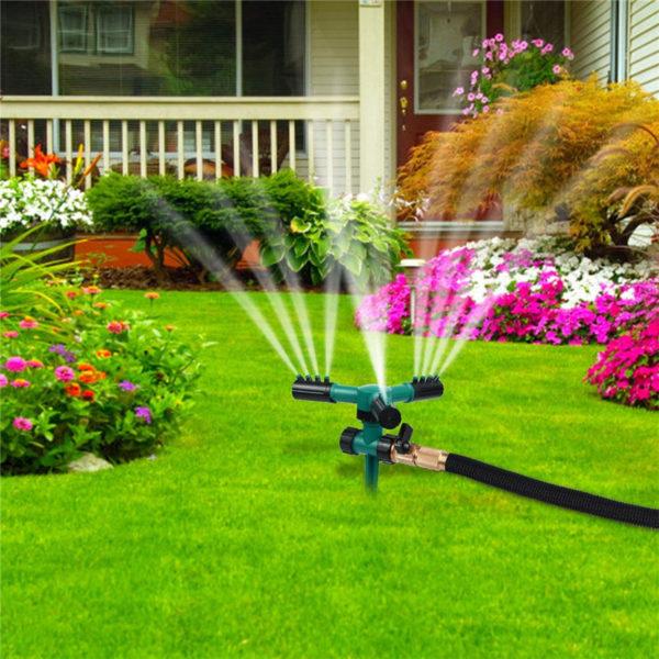 DN15 Yard Garden Lawn Irrigation 360°  Rotation Water Sprinkler Head Plastic !